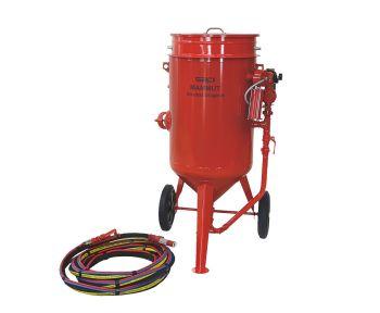 Sandstrahlgeräte MAMMUT - Komplettsysteme mit Ein und Auslassventil
