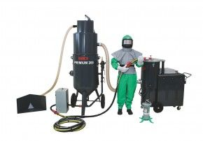 Druck-Sandstrahlgerät mit Strahlmittelaufbereitung