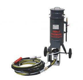 Premium Feinstrahlgerät 25 Liter | mit integrierter Sicherheits-Schnellstoppabschaltung