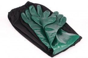 Gummihandschuhe mit weiten Stulpen, wattiert (Strahlerhandschuhe)