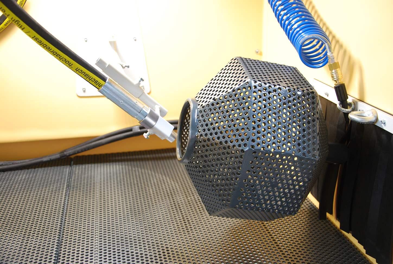 Drehkorb automatisch Strahlkabine