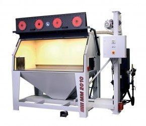 MM 2010 | Druckstrahlsystem | Integrierter Patronenfilter | Druck-Strahlkabine